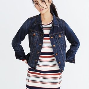 Madewell The Jean Jacket in Briarwood Wash S